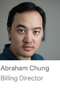 Abraham Chung, Billing Director