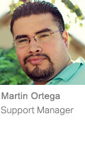 Martin Ortega, Support Manager